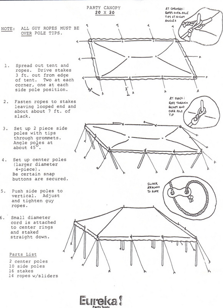 Tent Set Up Instructions 2 White Bear Rental Inc
